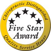 Chiropractic Distinguished Five Stars Award