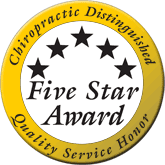 Chiropractic Distinguished Five Stars Award